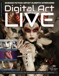 Digital Art Live Issue 12  Digital Art Live promotes the work of artists and content creators working with skin and skin art in this issue.  Pixeluna, a leading DAZ Studio content vendor talks about her skin based characters. Paolo Ciccone developer of the Reality plugin for Poser and DAZ Studio talks about rendering skin and how Reality tackles this challenge. RGUS (Dean Whitmore) shares his tattoo artwork  created using both Poser and DAZ Studio.