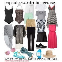 What to wear on (and pack for) a Caribbean cruise: This capsule wardrobe covers you from days by the pool to stops ashore. Cruise Attire, Cruise Wear, Travel Wardrobe, Capsule Wardrobe, Vacation Wardrobe, Wardrobe Ideas, Vacation Outfits, Cruise Vacation, Bahamas Cruise