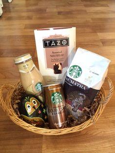 Starbucks Gift Basket, Raffle Basket Ideas/ Bridal Shower Basket