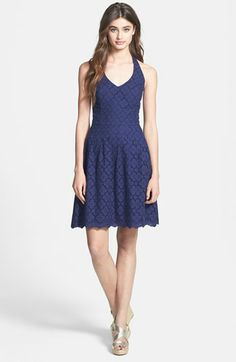 Lilly Pulitzer 'Ross' Lace Halter Dress available at #Nordstrom