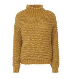 Mustard yellow knittend sweater
