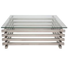 SHEAF STAINLESS STEEL COFFEE TABLE  $1,350.00 @ puremodern.com