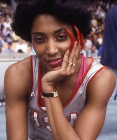 "Sprinter Flo-Jo ""Florence Griffith-Joyner"" famous for her nails and being the fastest woman in the world!"