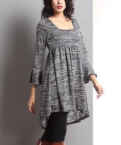 Loving this Charcoal Mélange Hi-Low Empire-Waist Tunic on #zulily! #zulilyfinds