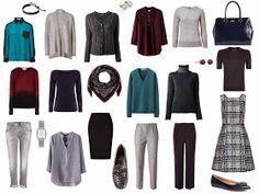 travel capsule wardrobe wardrobe planning minimal wardrobe --//-- navy, gray, burgundy, teal (or mustard!!) :)