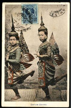 Die Thailandseiten - Postkarten Musik-Tanz - Khon Thailand