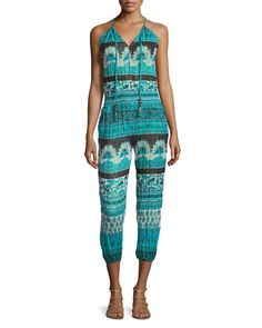 Calypso St Barth Cappi Sleeveless Jumpsuit, Chroma Cc In Chromacc Calypso St Barth, Cotton Jumpsuit, Blue Jumpsuits, Last Call, Neiman Marcus, Overalls, Pants, Clearance Sale, Clothes