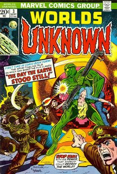 Marvel Comics' Worlds Unknown #3. Roy Thomas and Ross Andru's adaptation of Farewell to the Master. #WorldsUnknown #FarewellToTheMaster