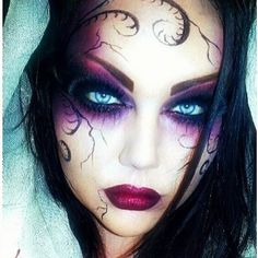 Wow! We love this piercing fantasy look by SarahC_29, using #Sugarpill Love+ and Poison Plum. She is exquisite!
