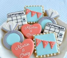 More cookie ideas to inspire you for your save the date!