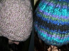 knitted hats on straight needles how to.