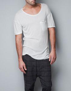 T-SHIRT WITH BREAST POCKET - Homewear - Man - ZARA
