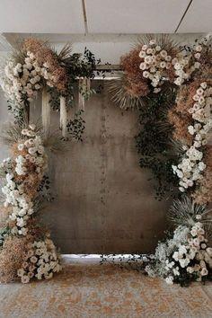 28 Brilliant Floral Wedding Backdrop Ideas That Inspire Wedding decorations Wedding Trends, Wedding Designs, Boho Wedding, Floral Wedding, Wedding Flowers, Wedding Ceremony, Wedding Sets, Wedding Backdrop Design, Floral Backdrop