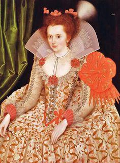 Marcus Gheeraerts the younger (Flemish artist, 1561-1635) Princess Elizabeth, daughter of James I, 1612