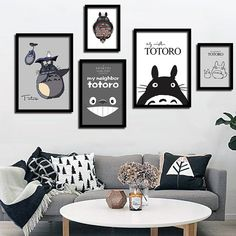 painting pictures kids Picture - More Detailed Picture about Modern Miyazaki Hayao Totoro Art Print Painting Poster Wall Picture For Kids Room Decoration,Cartoon Wall Decor no frame Picture in Painting & Calligraphy from Sweet Home Fashion Mall