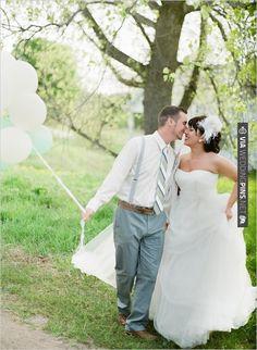 wedding ballons | VIA #WEDDINGPINS.NET