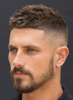 Haircuts for men Fade Haircut with short Beard ideas for men Your Wedding Theme Whether it's a tradi Mens Hairstyles Fade, Haircuts For Men, Medium Hairstyles, Modern Haircuts, Wedding Hairstyles, Mens Short Fade Haircut, 1950s Hairstyles, School Hairstyles, Men's Hairstyles