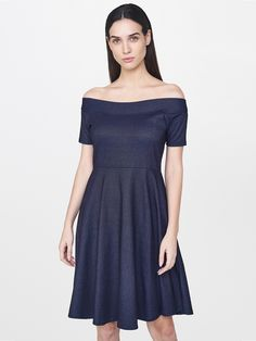 4facbd62dfc9e Buy AND Women Navy Blue Solid A Line Dress - Dresses for Women Western Look