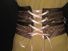 Glamarita Tie Me Up Tie Me Down in Pink Mocha CORSET CUMMERBUND BELT All Sizes Available. $55.00, via Etsy.