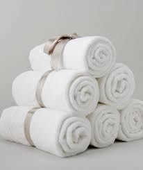 Love this simple towel rolls!
