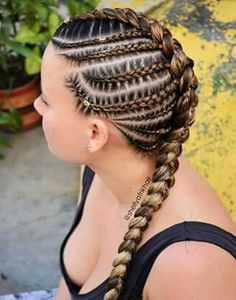 53 Box Braids Hairstyles That Rock - Hairstyles Trends Lemonade Braids Hairstyles, Rock Hairstyles, Braided Ponytail Hairstyles, African Braids Hairstyles, Cornrows Updo, Protective Hairstyles For Natural Hair, Natural Hair Braids, Braids For Black Hair, Mohawk Braid Styles