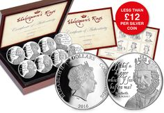 "The complete ""Shakespeare's Kings"" Silver Coin Set"