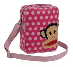 Paul Frank Polka Dot Pink Shoulder Bag available at KidsDoTravel http://kidsdotravel.co.uk/childrens-backpacks-shoulder-bags-and-kit-bags/backpacks-and-shoulder-bags-for-younger-children/paul-frank-polka-dot-pink-shoulder-bag