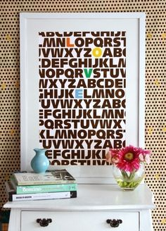 LOVE alphabet print. Maybe I could do this and color the letters that spell Chloe's name?? Hmmm...