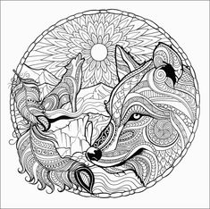 Lovely design adult wolf coloring pages for adults anime page free printable mandala is one of images from adult wolf coloring pages. Find more adult wolf coloring pages images like this one in this gallery Fox Coloring Page, Preschool Coloring Pages, Adult Coloring Book Pages, Printable Adult Coloring Pages, Mandala Coloring Pages, Animal Coloring Pages, Coloring Pages For Kids, Coloring Sheets, Coloring Books