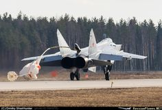 MiG-31 Foxhound drag parachute opening moment