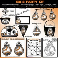 DIY Star Wars BB-8 Printable Party Kit | SKGaleana