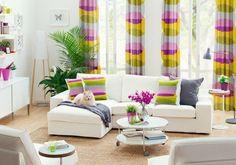 Картинки по запросу яркие шторы в интерьере