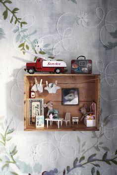 DIY: Miniatur-Maushaus (Emma's Vintage) - For the little ones.