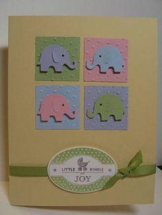 baby cards 50 Blue patterned Martha Stewart Elephants for Cardmaking Scrap Book
