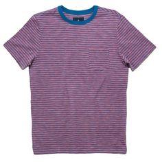 Roark Masala Knit T-Shirt ❤ liked on Polyvore featuring tops, t-shirts, purple top, purple t shirt, roark, knit t shirt and knit top