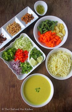 Vegetarian Burmese Khowsuey Recipe with step by step photos .Sometimes we fall in love with few dishes at the very first bite and this B. Lunch Recipes Indian, Vegetarian Recipes Easy, Curry Recipes, Asian Recipes, Cooking Recipes, Healthy Recipes, Kulfi Recipe, Chaat Recipe, Burmese Food