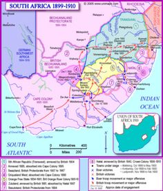 Oct Boer War begins in South Africa map of SA African Map, African States, African History, History Class, World History, South Africa Map, Black Week, Military History, Military Photos