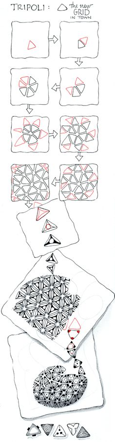 zentangle tesselation pattern: Tripoli http://archive.constantcontact.com/fs023/1101168872594/archive/1106246554870.html