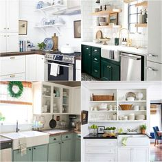 15 Best kitchen remodel ideas & before and afters: how to paint kitchen cabinets, add open shelving, Kitchen Cabinet Remodel, Painting Kitchen Cabinets, Kitchen Paint, Diy Kitchen, Country Kitchen, Kitchen Cabinets Painted Before And After, Before After Kitchen, Greige, Hygge