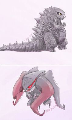 chibi Goji/Muto by on DeviantArt Godzilla Comics, Godzilla Wallpaper, Creature Concept Art, Mecha Anime, Comic Movies, Cute Chibi, King Kong, Monster, Digimon