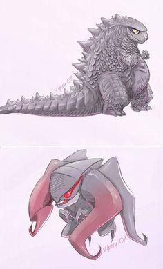 chibi Goji/Muto by on DeviantArt Godzilla Franchise, Godzilla Comics, King Kong Vs Godzilla, Godzilla Wallpaper, Cute Kawaii Animals, Monster Musume, Mythical Creatures Art, Mecha Anime, Creature Concept Art