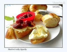Maslové+rožky+-+lúpačky+(fotorecept) Bread, Basket, Brot, Baking, Breads, Buns