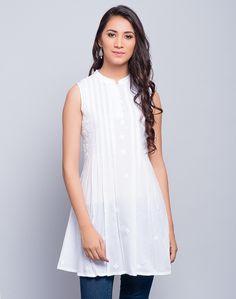 Cotton Chikankari Embroidery Tunic – Fabindia.com