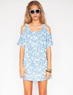 84f7cfc3fb3d5 Palm denim dress - Shop the latest Fashion Trends
