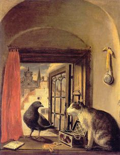 Govert Dircksz Camphuysen (1623-72) - cat art
