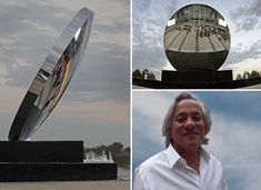 the freestanding 'sky mirror' literally brings the sky down to the ground Anish Kapoor