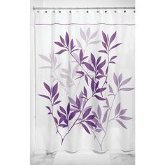 iDesign InterDesign 35650 Leaves Fabric Shower Curtain-Standard, x Soft Blue and Green Spa Bathroom Decor, Bathroom Accents, Bathroom Ideas, Modern Bathroom, Master Bathroom, Dorm Bathroom, Modern Shower, Bathroom Curtains, Bathroom Pics