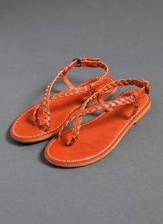 Braided Sandal - Burnt Orange $118