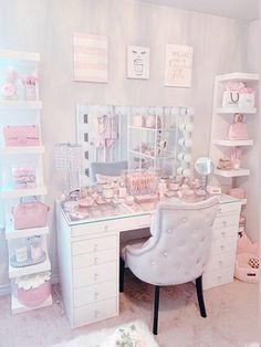 Elegant Home Interior .Elegant Home Interior Pink Bedroom Decor, Bedroom Decor For Teen Girls, Room Design Bedroom, Girl Bedroom Designs, Teen Room Decor, Room Ideas Bedroom, Cute Room Ideas, Cute Room Decor, Dressing Room Decor