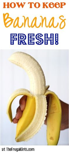 How to Keep Bananas Fresh Tip! ~ at TheFrugalGirls.com ~ this simple little kitchen trick works like a charm! #banana #thefrugalgirls